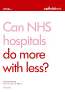 Can NHS hospitals do more with less
