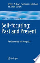 Self focusing  Past and Present Book