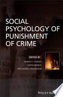 Social Psychology of Punishment of Crime