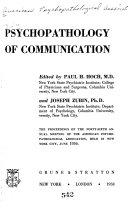 Psychopathology of Communication