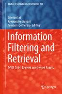 Information Filtering and Retrieval Pdf/ePub eBook