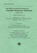1996 IEEE International Workshop on Variable Structure Systems, VSS '96