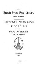 Annual Report Of Librarian To The Board Of Trustees