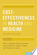 Cover of Cost-Effectiveness in Health and Medicine