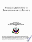 Commercial Perspectives On Information Assurance Research Book PDF