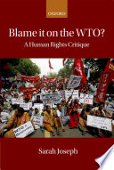 Blame it on the WTO