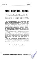 Fire Control Notes Book