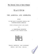 The Agricola and Germania Book