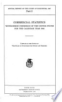 Commercial Statistics. Water-Borne Commerce of the United States