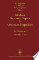 Modern Research Topics in Aerospace Propulsion