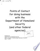 U S Department Of Homeland Security List Of Dhs Prime Contractors Prepared February 3 2004  Book PDF