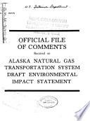Alaska Natural Gas Transportation System Book