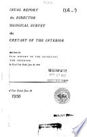 Annual Report Of The Director Of The Geological Survey To The Secretary Of The Interior