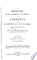 A Dictionary of Commerce and Commercial Navigation Book