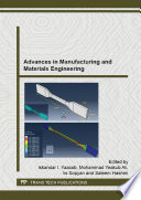 Advances in Manufacturing and Materials Engineering Book