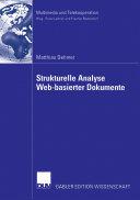 Strukturelle Analyse Web-basierter Dokumente