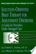 Solution Oriented Brief Therapy For Adjustment Disorders Book PDF