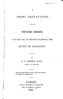 A short explanation of the Nicene Creed