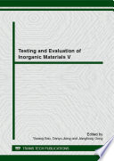 Testing And Evaluation Of Inorganic Materials V Book PDF