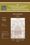 Proceedings of the 9th International Congress on Deterioration and Conservation of Stone Pdf/ePub eBook