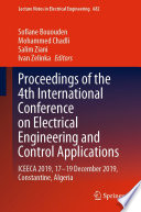 Proceedings of the 4th International Conference on Electrical Engineering and Control Applications