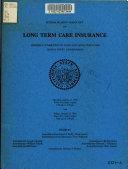Interim Hearing on Long Term Care Insurance, State Capitol Building, Sacramento, California