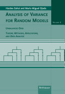Analysis of Variance for Random Models, Volume 2: Unbalanced Data
