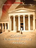 Courts and Criminal Justice in America Book