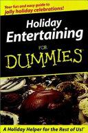 Holiday Entertaining for Dummies R  Waldenbooks Mi Nibook