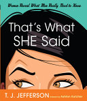 That's What She Said Pdf/ePub eBook