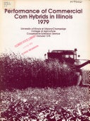 Performance of Commercial Corn Hybrids in Illinois, 1979