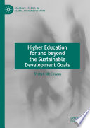 Higher Education for and beyond the Sustainable Development Goals