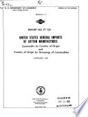United States General Imports of Cotton Manufactures