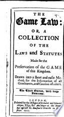 The Game Law