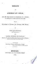 Essays on American Silk