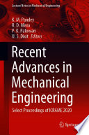 Recent Advances in Mechanical Engineering Book