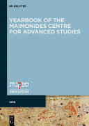 YEARBOOK OF THE MAIMONIDES CENTRE FOR ADVANCED STUDIES