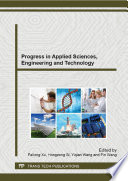 Progress in Applied Sciences  Engineering and Technology Book