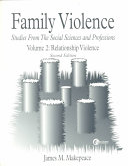 Family Violence  Relationship violence