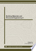 Building Materials and Structural Engineering II Book