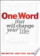 One Word that will Change Your Life Book