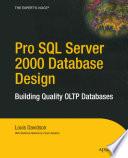 Pro SQL Server 2000 Database Design