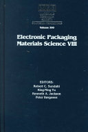 Electronic Packaging Materials Science VIII: Volume 390
