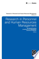 """Research in Personnel and Human Resources Management"" by M. Ronald Buckley, Jonathon R. B. Halbesleben, Anthony R. Wheeler"