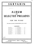 Album of Selected Preludes, for the Piano