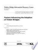 Factors Influencing the Adoption of Timber Bridges Book PDF