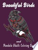 Beautiful Birds And Mandala Adults Coloring Book