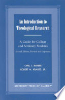 An Introduction to Theological Research