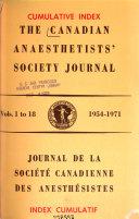 Journal de la Soci  t   Canadienne Des Anesth  sistes