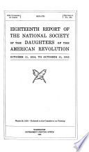 Report of the National Society of the Daughters of the American Revolution